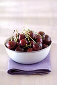 Blue Bowl of Cherries