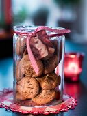 A jar of nut biscuits as a gift