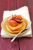 Buttermilk pancakes with apple and cinnamon