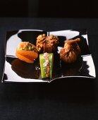 Foie gras and fruit