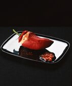 Red pepper stuffed with Foie gras