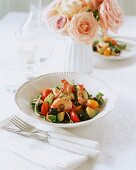 Prawn and avocado salad with cocktail tomatoes
