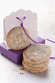 Poppy seed cookies with white chocolate