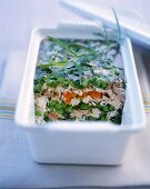 Chicken-vegetable terrine