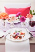 Lamb chops with heart-shaped puff pastry for Valentine's Day