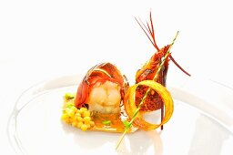 Lobster ragout with couscous