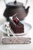 Schokoladenschnitten mit Schokocreme