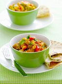 Chickpea and aubergine curry