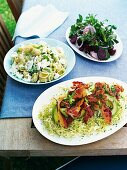 Three different salads