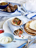 Sheftalia in a pita bread (Greece)