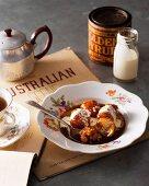 Golden syrup dumplings from Australia