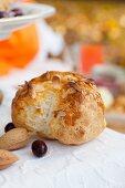 Almond bun for autumn picnic