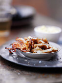 Grilled calamari with smoked ground paprika