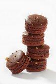 Chocolate-hazelnut macarons