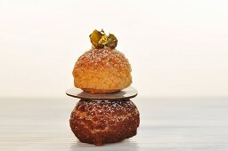 A religieuse with passion fruit