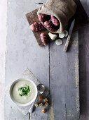 Jerusalem artichoke soup (seen from above)