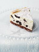 Cheese cake with raisins