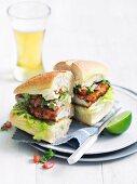 Pollo Milanesa Torta (chicken sandwich)