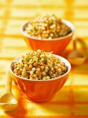 Ptitim (Israeli couscous) with carrots and chives