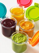Fresh vegetable and fruit puree