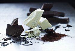 Dark and white chocolate