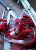 Rhubarb peelings