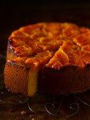 Clementine cake, sliced