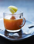 A hot rosehip drink