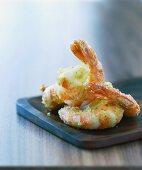 Prawns in coconut tempura batter