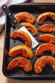 Oven-roasted pumpkin slices