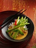 Red asparagus curry