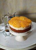 Mango and buttermilk cream tart