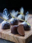 Chocolate pralines as a gift