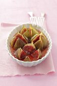 Baked figs in a wine and honey sauce