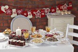 Various dishes for Christmas dinner
