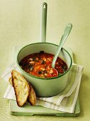 Zuppa ricca (Italian vegetable soup with savoy cabbage)