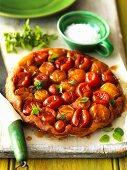 Tomato tart tatin with oregano