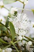 Mistletoe with a metal snowflake