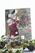 Mistletoe in front of an advent calendar