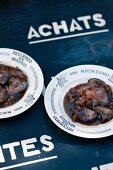 Rabbit liver in balsamic vinegar sauce