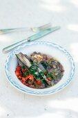 Fagioli e conchiglie (bean stew with mussels)