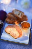 Goose liver with spices