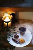Coffee and cake for Christmas
