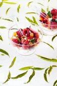 Fruchtsalat mit Agar-Agar