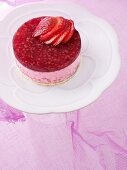 Strawberry yogurt tart