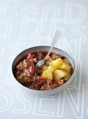 Pork curry with coriander potatoes