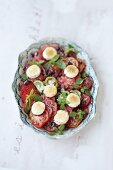 Tomato salad with gratinated goat's cheese