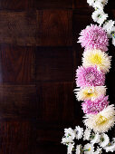 A garland of dahlias