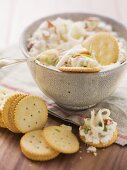 Asiago dip with crackers