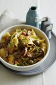 Pappardelle with pork and olives